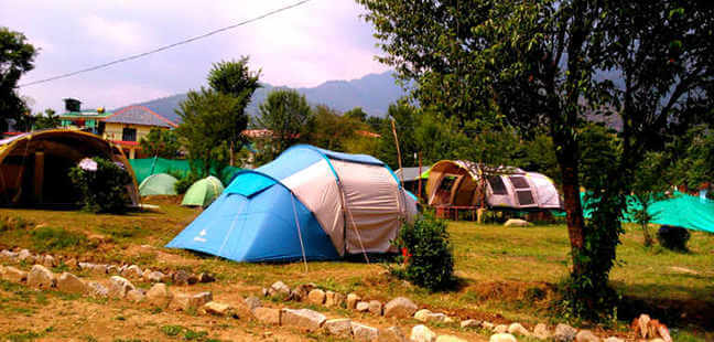 Camping in Bir Billing