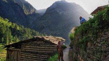 Inside View of Bara Bhangal Village